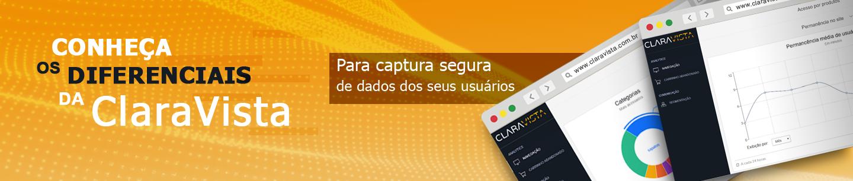 Conheça os diferenciais da ClaraVista para captura segura de dados dos seus usuários. Tecnologia e flexibilidade para cruzamento de dados com operações sob medida.